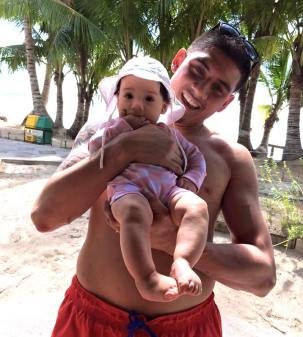 Fun in the sun with daddy!